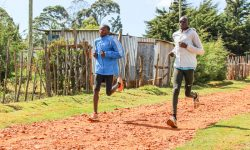 long run day in iten - Lauftraining der Kenianer