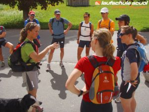 Trail-Running Lauftechnik Laufschule Scuol Fraenzi Gissler