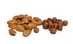 Haselnüsse und Mandeln Energiespender
