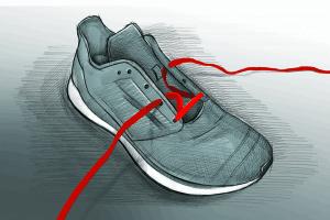 Parallelschnürung Laufschuhe 1