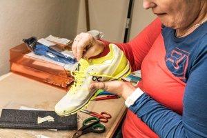Sensomotorische Einlagen für Laufschuhe - Einpassen